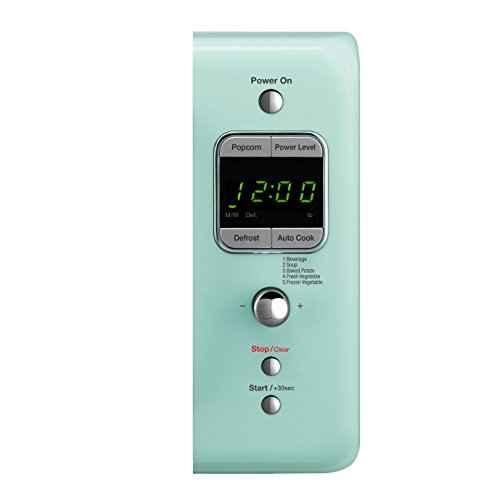 Daewoo KOR-7LREM Retro Countertop Microwave Oven 0.7 Cu. Ft., 700W | Mint Green by Daewoo (Image #3)