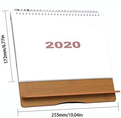 Tischkalender 2020, Einfacher Stil Hölzern Kalender Desktop-Kalender Zum Home-Office-Schreibtische