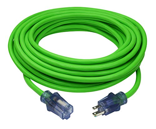 Prime Wire & Cable NS512830 Neon Flex 12/3 SJTW High-Visibility Extreme Cold Weather Outdoor Extension Cord, 50 Feet, ()