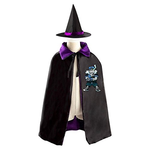 A cruel boy Kids Hallowmas clothing Cool baseball sans Black Cloak and Cape with (Baseball Costume For Women Diy)