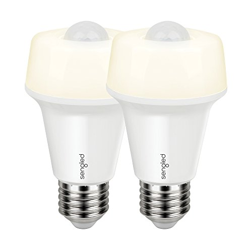 Sengled Smartsense LED Light Bulb with Motion Sensor, A19 Smart LED Night Light Soft White 2700K, E26 Base 60W Equivalent, 2 Pack