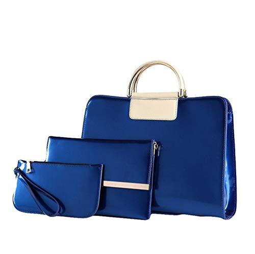 De Blue Brillant Ensembles Rivet Sous Sac Messenger Main épaule paquet Carré Sac Trois De En Boucle Petite Bag à Cuir Ladies épaule 1AnwxEC