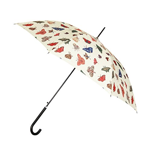 Butterfly Patio Umbrella - Signare Womens Fashion Automatic Stick Umbrella in 7 Designs (Butterfly)
