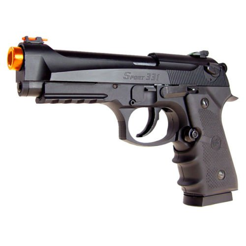 500 FPS WG AIRSOFT METAL M9 BERETTA BLOWBACK GAS CO2 HAND GUN PISTOL w/ 6mm BB ()