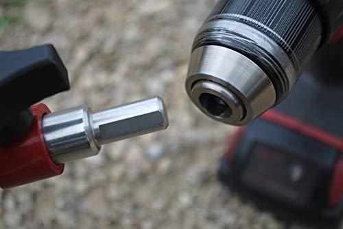 Aluminum Ice Power Auger Drill Adapter For Strikemaster Lazer//Mora Eskimo