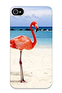 FSkJRvt550DRFxr Anti-scratch Case Cover Eatcooment Protective Flamingos Case For Iphone 4/4s
