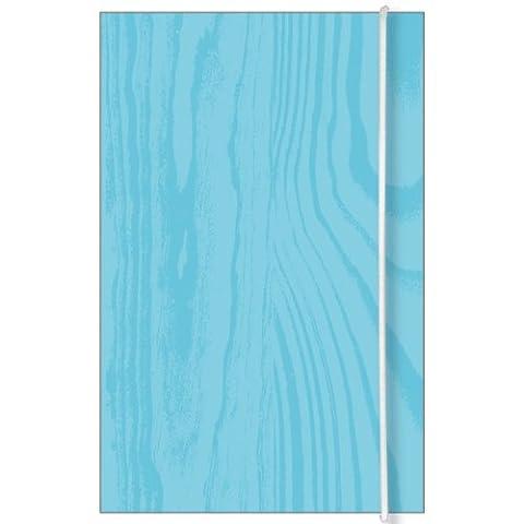 Zoomerang Blue Wood Mini Theme Book, 3.5 x 5.5 Inches (41556) - Mayflower Wood