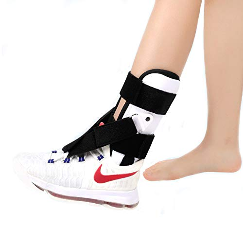 Ober Ankle Support Brace Foot-up - Drop Foot AFO Brace Adjustable Ankle Stirrup Splint Rigid Stabilizer for Sprains, Strains, Post-Op Cast Support and Injury Protection ()