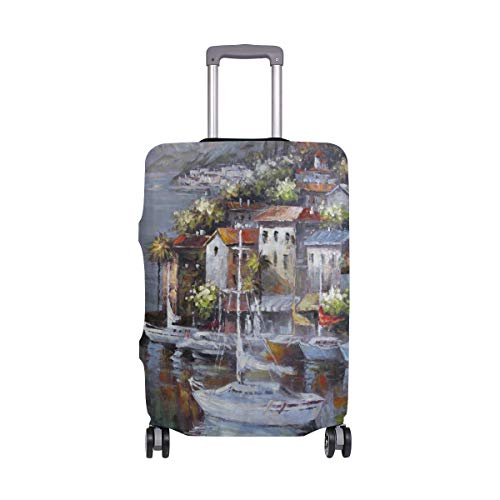Marina Village Sailing Travel Luggage Cover Luggage protector Spandex Suitcase Cove Protector For Travel Kids Men Women