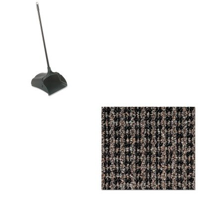 KITCWNOXH046BRRCP253100BK - Value Kit - Crown Oxford Wiper Mat (CWNOXH046BR) and Rubbermaid-Black Lobby Pro Upright Dust Pan, Open Style (RCP253100BK)