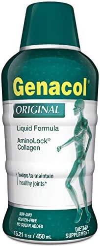 GENACOL Original Liquid Collagen Peptides for Joints, Bones and Skin | High Absorption Hydrolyzed Collagen | Sugar-Free Non-GMO (15.21 fl Oz.)
