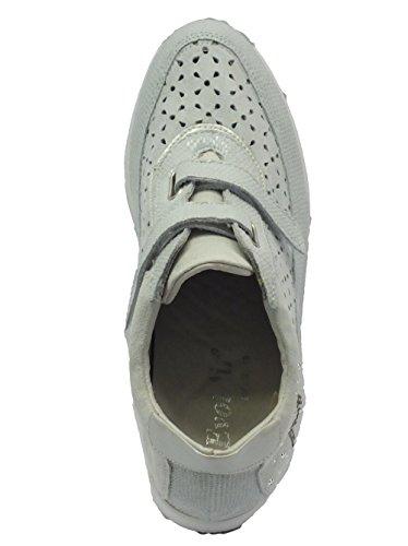 MELLUSO 09343 Ghiaccio - Zapatillas de Piel para mujer Ghiaccio