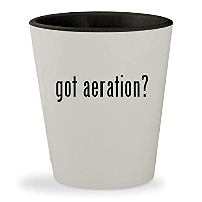 got aeration? - White Outer & Black Inner Ceramic 1.5oz Shot Glass