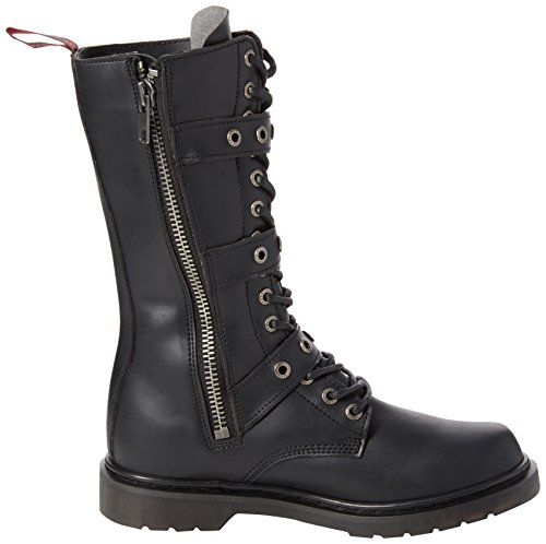 Def303 Boot b Leather Demonia Men's Vegan Pu Black vwR5Tq