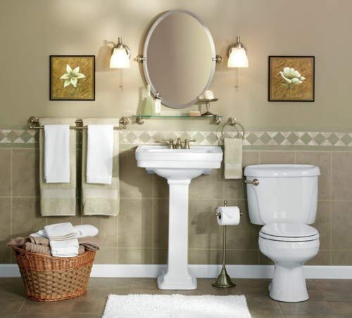 Moen CSIDN6850BN 22'' Free Standing Single Toilet Paper Holder from The Sage Collection