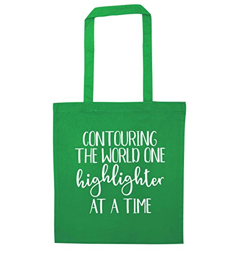 Green Highlighter the at Contouring Creative a Time Bag World Tote Flox on gAPqx0P
