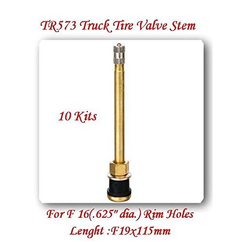 (Lot of 10 Kits) TR573 Truck Tire Valve Stem Wheels 22.5 /24.5 For Rim Φ.625