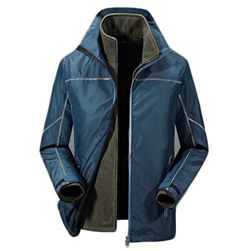 Zjexjj Invernale Da Tre Blu Impermeabile In Agli Resistente M Due Agenti Dimensioni Atmosferici Giacca colore Alpinismo Uomo Pezzi Uno 5rnqw85aY