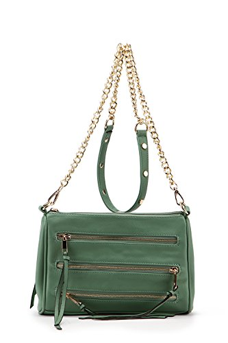 Collection Chain Crossbody Farrow Bag by Strap Handbags MKF Arlene K Mia Pocket Triple Green Zippered q1nWB8x4