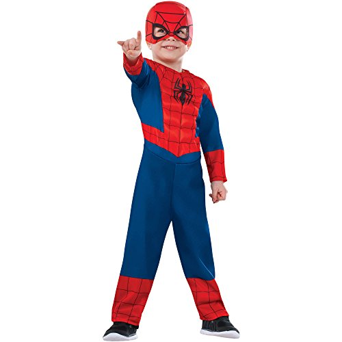 [Spiderman Muscle Chest Boys Toddler Halloween Costume] (Muscle Chest Spiderman Costumes)