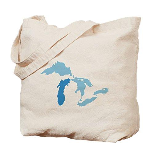 CafePress Lake Michigan Natural Canvas Tote Bag, Cloth Shopping Bag (Fabric Stores Michigan)