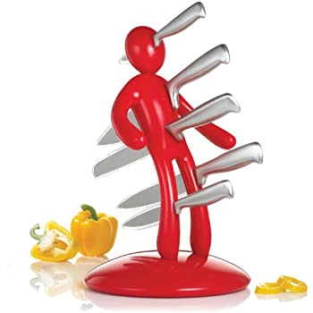 Exceptional THE EX Kitchen Knife Set, Red