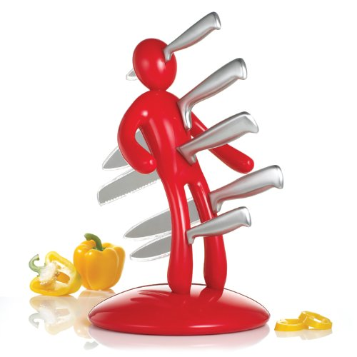 THE EX Kitchen Knife Set, Red by RICSB