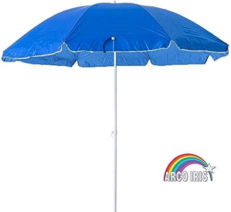 Arcoiris Sombrilla, Playa Parasol de Aluminio Protección Solar UPF+50 (220cm, Azul)