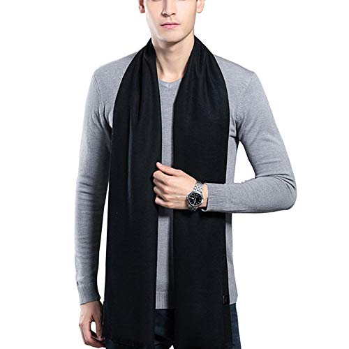 HULANG Mens Cashmere Winter Scarf Plaid Stripes Fashion Long Scarves by HULANG