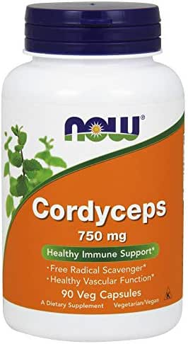 NOW Supplements, Cordyceps (Cordyceps sinensis)750 mg, 90 Veg Capsules