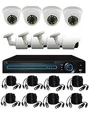 طقم 8 كاميرات مراقبة 1000tvl فائقة الوضوح وجميع ملحقات التركيب