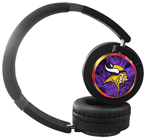 MY.Y-Stylish bluetooth headset high fidelity stereo wireless headphone with picture foldable soft memory protein ear sleeve(Vikings/Minnesota) -