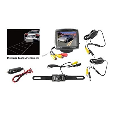 Pyle PLCM34WiR Car Van Jeep Vehicle Wireless Rear View Backup Camera and Monitor Parking/Reverse System from The Rear View Camera Center