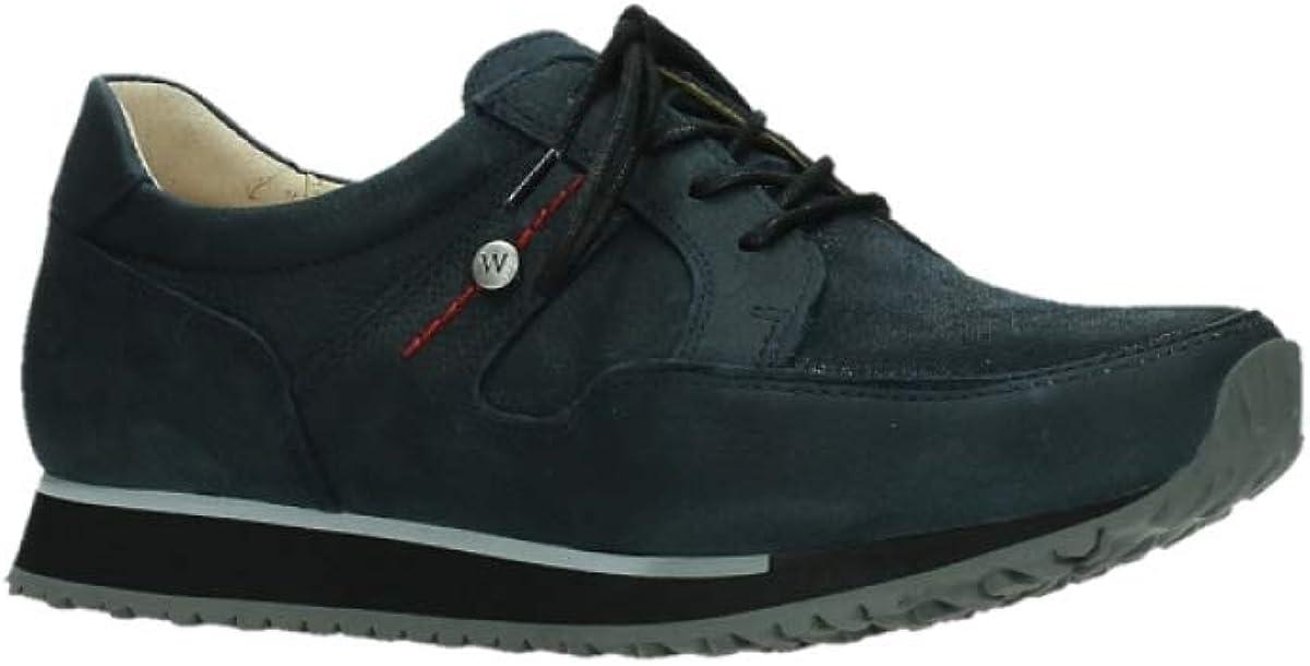Wolky Comfort Sneakers e-Walk 11875 Winterblau Stretch Nubukleder