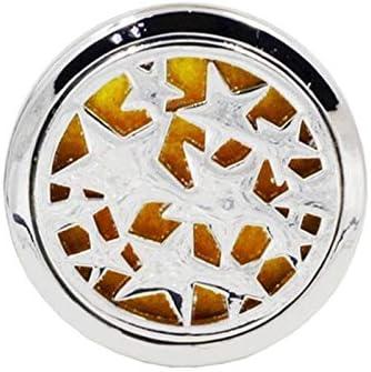 アロマセラピー カーフレグランスディフューザーベントクリップ車の空気清浄香水クランプアロマつめかえ用パッドとエッセンシャルオイルディフューザー Z.L.F.J.P (Color : 星, Size : フリー)