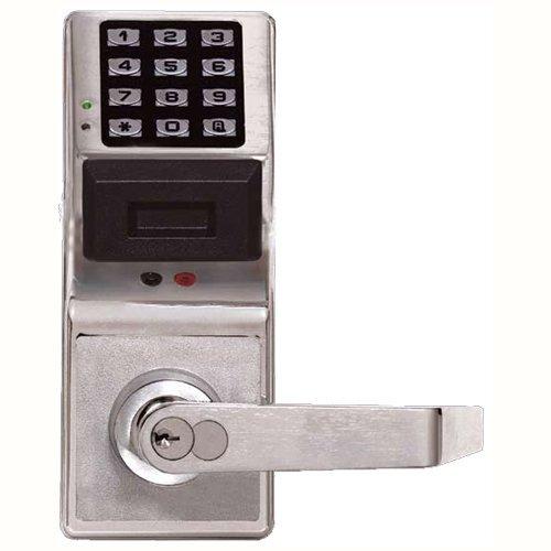 Napco Alarms - Napco Security NPPDL300026 Alarm Lock Trilogy Lock with Access Control Keypad and Proximity Reader44; Satin Chrome