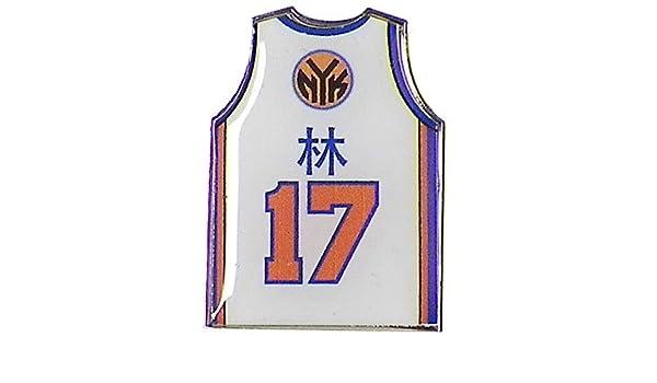 sports shoes 2b9cc 982e0 New York Knicks Jeremy Lin Mandarin Jersey Pin: Amazon.ca ...