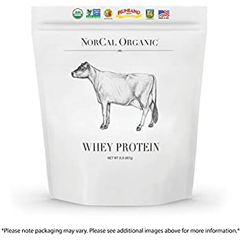 NorCal Organic Whey Protein - Premium Grass-fed Whey Protein - Non-denatured, Cold Processed Whey Protein Powder - USDA Certified Organic, Non-GMO, Whey Protein - Unflavored - Bulk Bag, 2 lbs
