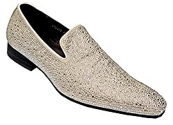 Leather With Rhinestone Slip-On Loafer