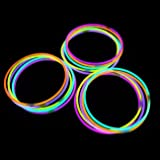 ": Glow Stick Necklaces- Tube of 50 22"" Premium Glow Stick Necklaces Mixed Colors"