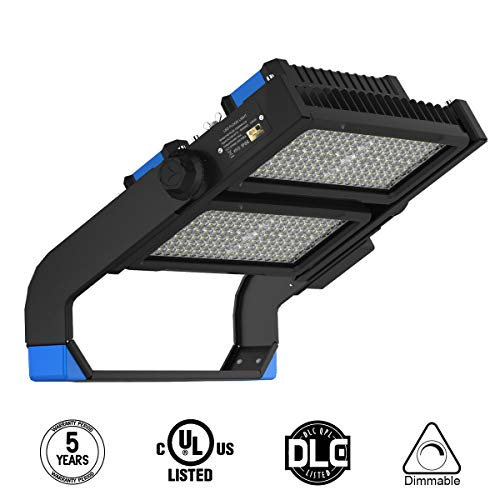 Adiso LED Flood Light 500W 65000LM Outdoor Stadium Light Super Bright Lighting Fixtures Daylight White 5000K Commercial Lighting with U-Bracket Mounting,AC 100-277V Waterproof IP66 UL Listed
