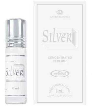 Silver - 6ml (.2 oz) Perfume Oil by Al-Rehab (Crown Perfumes)