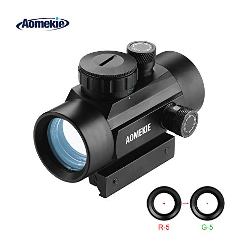 AOMEKIE Airsoft Red Dot Sight Scope Reflex Sight Rifle Scope 30mm Multi-Coated Lens with 22mm/11mm Weaver Picatinny Rail Mount for Hunting Shooting For Sale