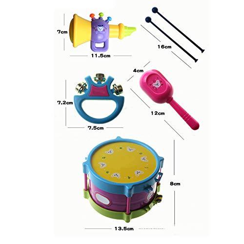 Weimay Sonaglio Giocattolo Campana a Mano Educazione Musicale Set di Strumenti a percussione 6Pz per Bambino Bambini Apprendimento Neonato Giocare Strumenti rifornimento per la Scuola di Ricreazione