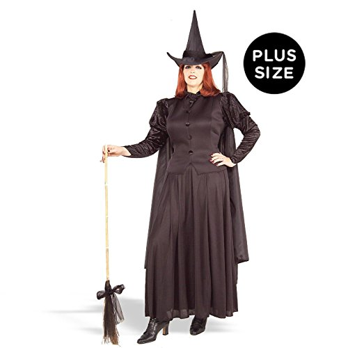 Forum Novelties Women's Wild N' Witchy Classic Witch Costume, Black, (Plus Size Black Witch Costumes)