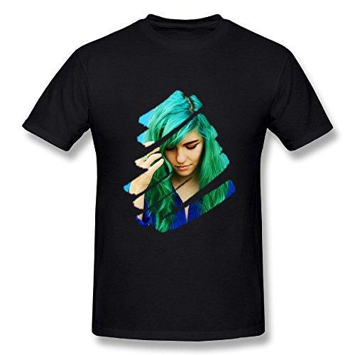 Edongquwe Mens Fashion T-Shirts Phoebe Ryan Black ()