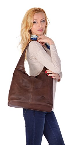 echt Brun piké Sac shopping Femme Leder qaaHPtw8