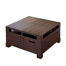 Furniture of America Bartoll Square Storage Coffee Table in Walnut