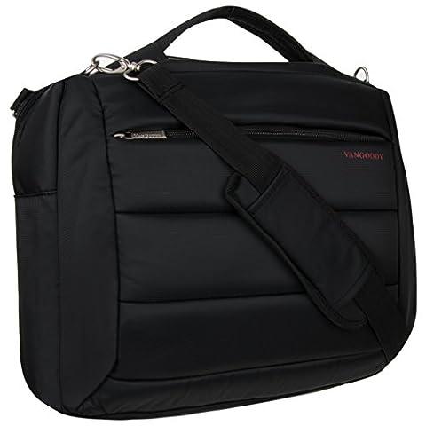 VanGoddy 2 in 1 Black Backpack + Messenger Bag for MSI Prestige / GT Series (Msi Gt70 Gtx980)