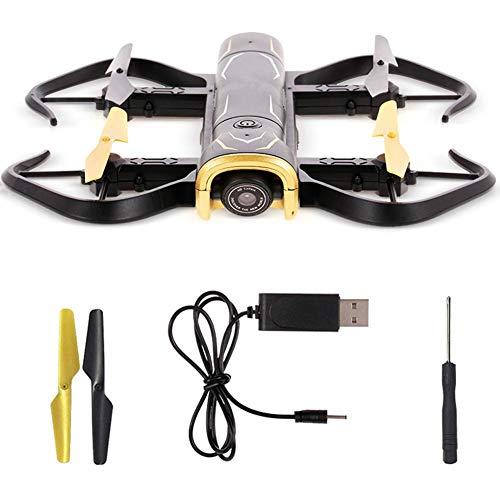 折りたたみ式RC無人機 4軸UAVドローン 固定高さUAV高精細空中耐破壊型リモートコントロール航空機ジャイロ付きUAVで360°フリップするUSB 高度維持 ヘッドレスモード